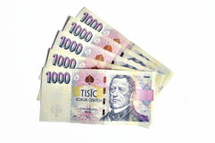 Mille couronnes tchèques Photo stock