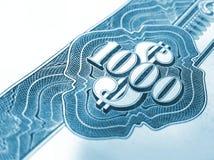 Mille dollari di obbligazione Immagini Stock
