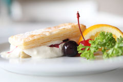 Mille feuille of berries Stock Image