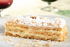 Mille feuille with cream Royalty Free Stock Image