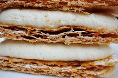 Mille-feuille French pastry Stock Photo