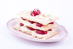Mille feuille strawberries Stock Images