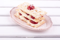 Mille feuille strawberries Stock Photos