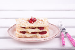 Mille feuille strawberries Stock Image