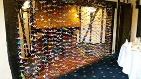 Mille gru di origami fotografie stock libere da diritti