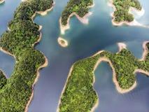 Mille laghi e d'acqua dolce blu fotografia stock