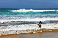 mille les quatre-vingt-dix zélande neuve de plage Image stock