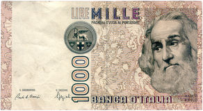 Mille lire Royalty Free Stock Photography