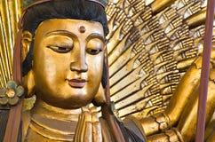 Mille mains Kuan Im U Lai, un dieu chinois Images stock