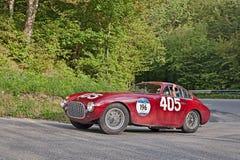 1951年Mille Miglia优胜者法拉利340美国 免版税库存图片