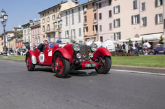 Mille Miglia, η διάσημη φυλή για τα αναδρομικά αυτοκίνητα Στοκ Φωτογραφίες