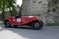 Mille Miglia, η διάσημη φυλή για τα αναδρομικά αυτοκίνητα Στοκ Εικόνα