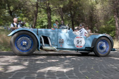 Mille Miglia, η διάσημη φυλή για τα αναδρομικά αυτοκίνητα Στοκ εικόνα με δικαίωμα ελεύθερης χρήσης