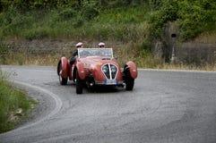 Mille miglia 2015个HEALEY 2400希尔弗斯通1950年 库存图片