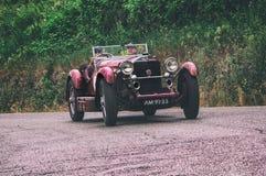 Mille miglia 2015年奔驰车710 SSK 1929年 库存照片