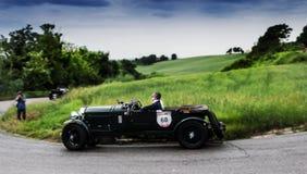 Mille miglia 2015年本特利4 5公升超了负荷1930年 库存照片