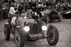 Mille Miglia. The Mille Miglia was an open-road endurance race which took place in Italy twenty-four times from 1927 to 1957 (thirteen before the war, eleven Stock Image