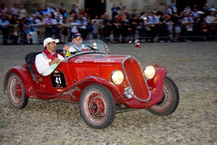 Mille Miglia. The Mille Miglia was an open-road endurance race which took place in Italy twenty-four times from 1927 to 1957 (thirteen before the war, eleven Royalty Free Stock Photos