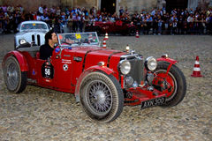 Mille Miglia. The Mille Miglia was an open-road endurance race which took place in Italy twenty-four times from 1927 to 1957 (thirteen before the war, eleven Royalty Free Stock Image