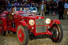 Mille Miglia. The Mille Miglia was an open-road endurance race which took place in Italy twenty-four times from 1927 to 1957 (thirteen before the war, eleven Royalty Free Stock Photo