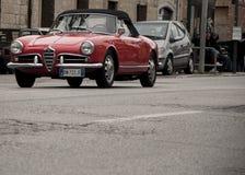 Mille miglia alfa romeo giulietta cabrio Stock Photography