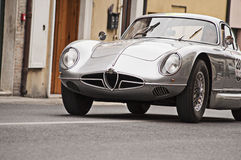 Mille miglia 2014 alfa romeo 2000 Sportiva vintage car Royalty Free Stock Photos