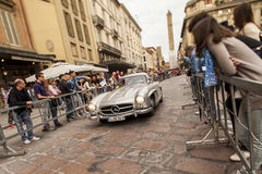 Mille miglia at boulogne. Mille miglia 2012 passagio da bologna Royalty Free Stock Photography