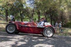 Mille Miglia det berömda loppet för retro bilar Royaltyfri Bild