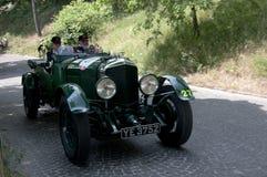 Mille Miglia, het beroemde ras voor retro auto's Stock Fotografie