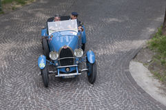 Mille Miglia, het beroemde ras voor retro auto's royalty-vrije stock afbeeldingen