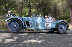 Mille Miglia, het beroemde ras voor retro auto's Royalty-vrije Stock Afbeelding