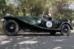 Mille Miglia, het beroemde ras voor retro auto's Stock Foto