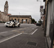 Mille miglia history race vintage car in fano Royalty Free Stock Image