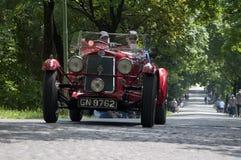 Mille Miglia, la corsa famosa per le retro automobili Fotografia Stock Libera da Diritti