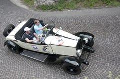Mille Miglia, la corsa famosa per le retro automobili Fotografia Stock