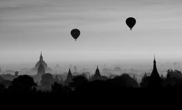 Mille pagode di Bagan fotografia stock