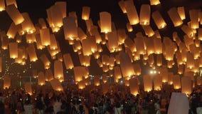 Mille tirs de flottement plein HD 50Fps de côté de lanterne de ciel clips vidéos