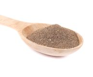 Milled black pepper in wooden spoon Royalty Free Stock Photography