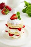 Millefeuille avec des fraises Images libres de droits