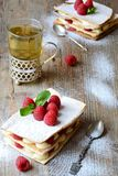Millefeuille cake Stock Photography