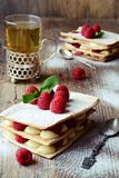 Millefeuille cake Royalty Free Stock Photos
