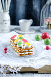 Millefeuille, french pastry Stock Photos