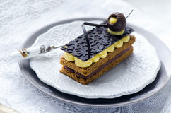 Millefeuille, french pastry Royalty Free Stock Image