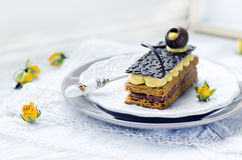 Millefeuille, french pastry Royalty Free Stock Photography
