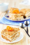 Millefeuille pastry with tangerine Royalty Free Stock Image