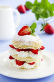 Millefeuille with strawberries Stock Photos