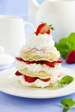 Millefeuille with strawberries Royalty Free Stock Photography