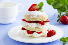 Millefeuille with strawberries Royalty Free Stock Image