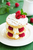 Millefeuille with strawberries Royalty Free Stock Photos