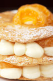 Millefeuille with tangerine. Tasty dessert Stock Image